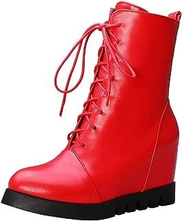 ELEEMEE Women Fashion Wedge Heels Bootie