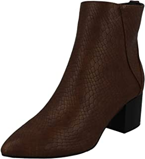 Spot On Women/Ladies Block Heel Ankle Boots