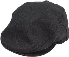 Biddy Murphy Irish Caps for Men 100% Irish Wool Cap Black Made in Ireland