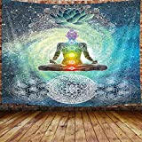 Chakra-Wandteppich, sieben Chakren, Yoga, Meditation, Zen,