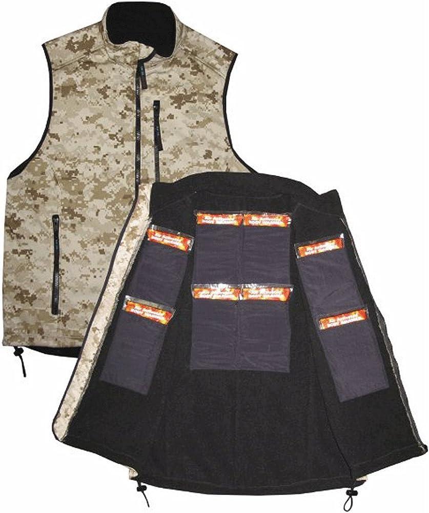 TechNiche International ThermaFur Military Marine Desert Digital Camouflage Warming Vest with 8 Heat Pax 24 Hour Body Warmers