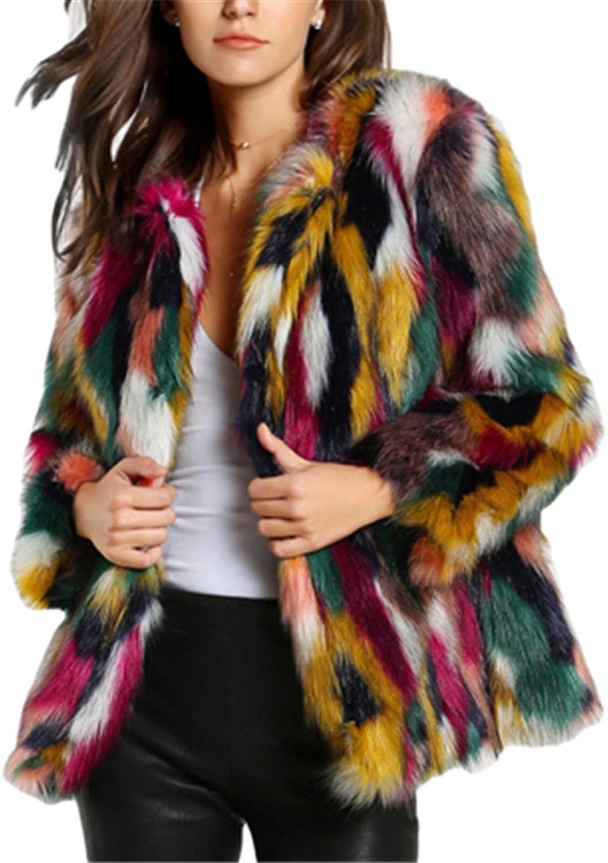 Amarisslly Multicolor Long Sleeveless Casual Woman Winter Fur Coat