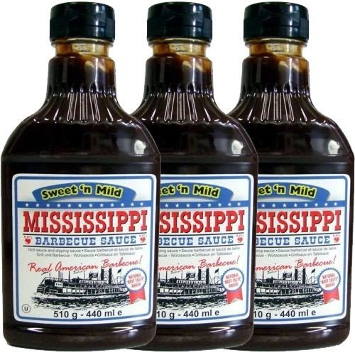 Mississippi Barbecue Sauce Sweet'n Mild 3 x 440ml (Grill-Sauce)