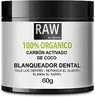 QVENE Blanqueador Dental - Teeth Whitening - Carbon Activado para Dientes - 100% Organico - Efectivo para Blanqueamiento D...