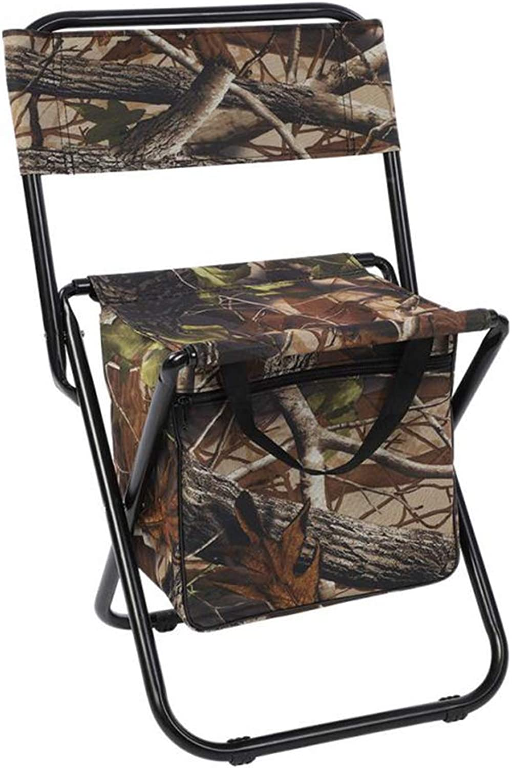 Outdoor Backrest Folding Chair, Ultra Light Folding Fishing Chair Seat Stool Camping Leisure Picnic Beach Chair with Backrest Storage Bag, Can Bearing Weight 150 kg