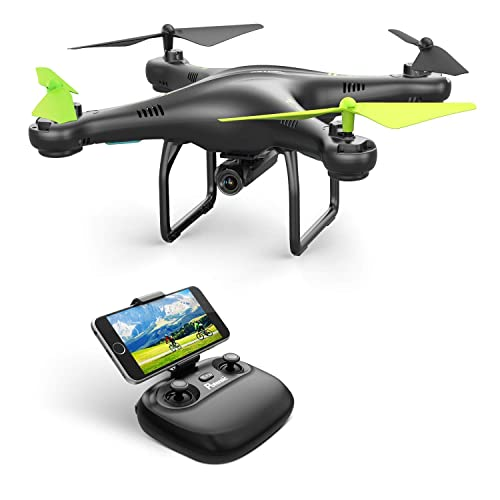 Potensic Drone with Camera, U42W WIFI 480P Camera FPV 2.4Ghz RC Quadcopter Drone RTF Altitude Hold UFO with Newest Hover and 3D Flips Function