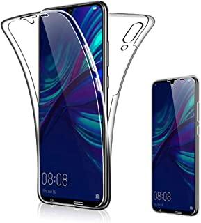 Suhctup Funda Transparente Compatible con Huawei P Smart 2019,360 Grados Protección Carcasa Transparente TPU Silicona Dobl...