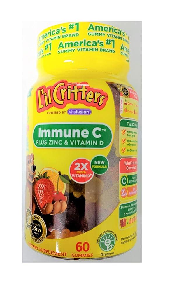 Lil Critters Immune C Plus Zinc and Vitamin C, 60 Gummies Per Bottle (2 Bottles)