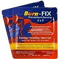 """Burn-FIX-Burn Dressing Gel Soaked 4"""" X 4"""". Burn Care-First Aid Treatment. Immediate Pain Relief Burn Cream- Burn Gel for 1st, 2nd Degree Burns, Chemical, Razor and Sunburns. for Home & Work."""