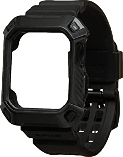 SUPCASE [Unicorn Beetle Pro] Case for Apple Watch 4 / Watch 5 [40mm], Rugged Protective Case with Strap Bands for Apple Watch Series 4 2018/ Series 5 2019 Edition (Black)