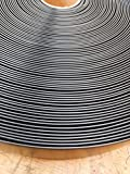 """KOMORAX Black 2"""" Wide 20' Length Chair Vinyl Strap Strapping for Patio Lawn Garden Outdoor Furniture Matte Finish Color"""