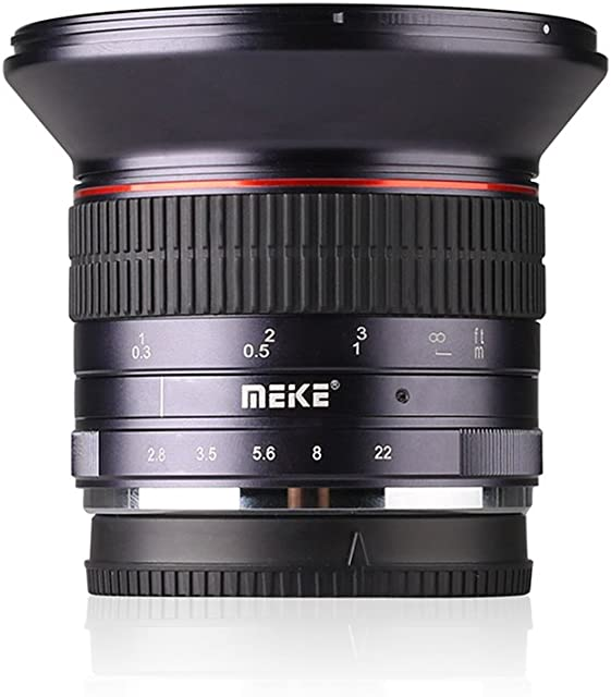 Meike 12mm F/2.8 Ultra Wide Angle Manual Foucs Prime Lens for Sony E Mount APS-C Mirrorless Cameras A7III A9 NEX3 A6400 A5000 A6500