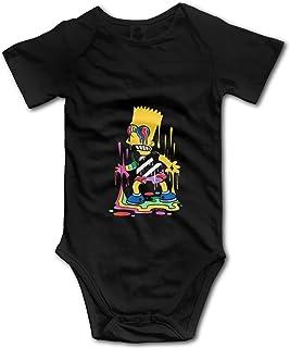 ZhangYu Graffiti S-Impson Baby Newborn Short Sleeve Baby Jumpsuit Bebé niño Pantalones Unisex Body