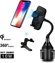 Ruiyue Wireless Charger Car Mount, Automatic 10W Cup Holder Qi Charger, Wireless Fast Charging Air Vent Phone Mount Compatible with iPhone Xs MAX/XR/XS/X/8/8 Plus, Samsung Galaxy Note 9/S9/S8 and More