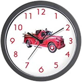 CafePress Firetruck Wall Clock Unique Decorative 10