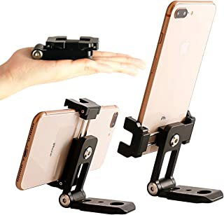 Ulanzi ST-05 All in 1 Phone Tripod Mount Adapter - Foldable Mobile Tripod Clipper Clamp with Hot Shoe/Arca-Style Quick Realease Plate Vertical Video Shooting Rig Compatible for iPhone Xs XR X Huawei