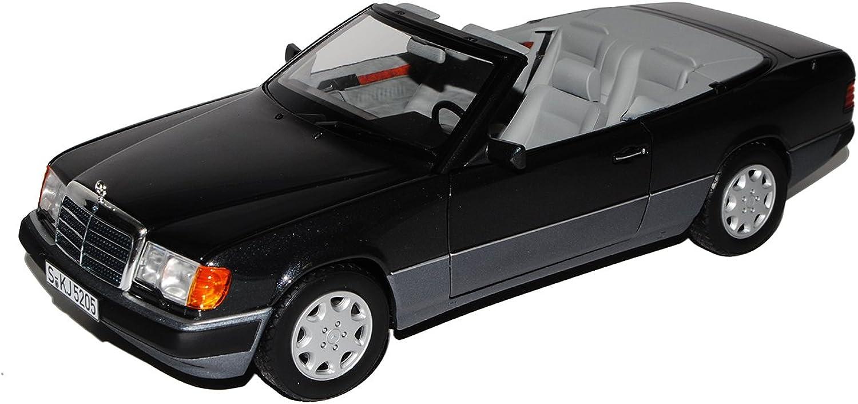 Norev Mercedes-Benz E-Klasse 300 CE W124 A124 Cabrio Schwarz Grau 1984-1997 1 18 Modell Auto