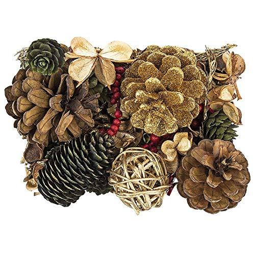Edel-Potpourri | Deko-Set | 200 g | verschiedene duftende Blüten, Zweige, Deko-Elemente (Weihnachten 2)