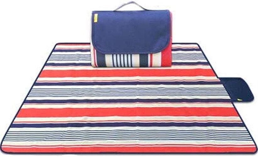 HTTSC Couverture de pique-nique imperméable portable couverture de pique-nique extérieure Tapis de plage tapis de pique-nique avec poignée Couverture de pique-nique imperméable Couverture de pique-niq