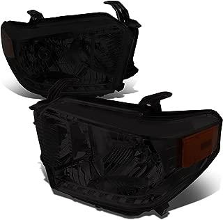 For 14-17 Tundra Pair of Smoked Lens Amber Corner Headlight Lamp