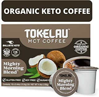 Tokelau Keto Coffee Pods for All Keurig Style Brewers. Enjoy the Convenience of Clean Keto Coffee in K Cups. Organic Ketogenic Coffee Pods with C8 MCT Oil to Get You Into Ketosis Fast.