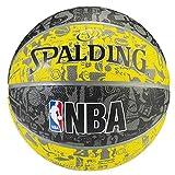 Spalding NBA Grafitti 83307Z - Balón de Baloncesto Unisex, Color Amarillo