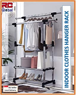 RC-Global C-46 BK Clothes rack/Clothes Horse/Clothes Hanger/Clothes drying rack/Clothes dryer/Clothes hanging Stand/Clothe...