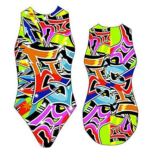 TurboTronic Grafitti Bragas de Bikini, Multicolor, XL para Mujer