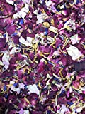 Coriandoli di petali naturali, confezione da 1litro, biodegradabili, vari colori, tipologie e mix disponibili Marigold, Cornflower, Maroon Rose & Lavendar