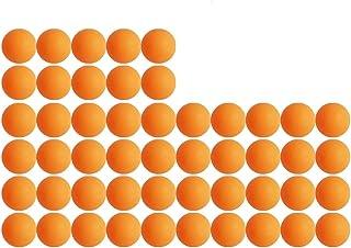 ピンポン玉 パック専門試合用三ツ星レベル卓球ボール 40mm プラスチック 材質 試合 練習 トレーニング ボール オレンジ 50個入り