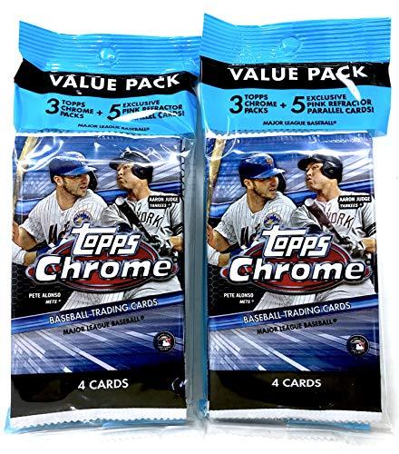 2020 Topps Chrome Baseball Value Pack (2 Value Packs)