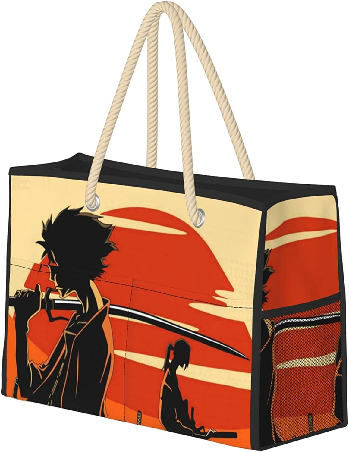 Afro Max 41% OFF Samurai Large Ladies Travel Beach Bag With Super popular specialty store Rope Knotted Han
