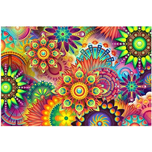 CANDYL DIY Paint by Number Mandala DIY Oil Paint by Number Kit for Kids Adults Students Beginner Canvas Painting by Numbers Arts Craft for Home Wall Decoration Kaleidoscope Painting 16x20 Inch