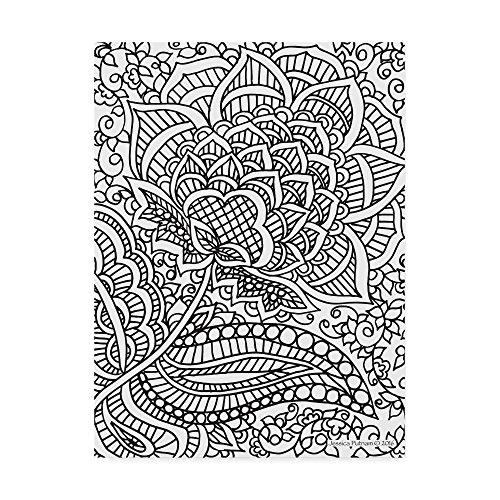 Trademark Fine Art Floral Patterns 5 by Jessica Putnam, 35x47, Multicolor