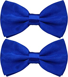 Pre-tied Satin Bow Tie with Adjustable Neck Band, Handmade Bowties Packed with Gift Box by Twins Trade