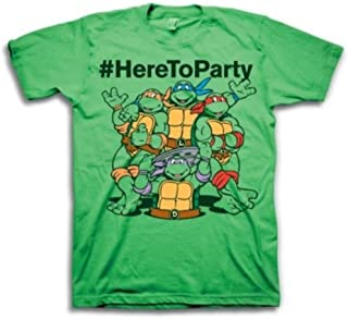 #HereToParty Hashtag Here To Party Adult Green T-Shirt