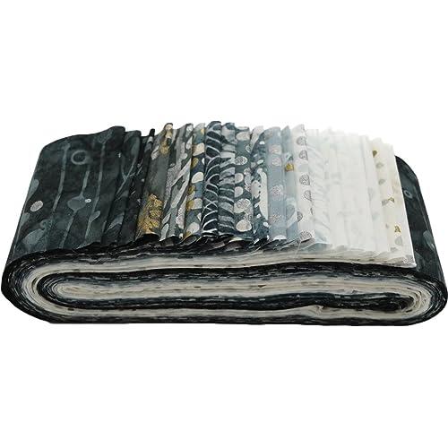 """Hoffman Batik Fresh Linen - Bali Poppy Fabric 20 2.5/"""" Jelly Roll Strips"""