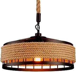 Lámpara de techo retro de hierro industrial vintage estilo Loft, colgante retro vintage salón, dormitorio, cafetería, restaurante, lámpara colgante [Clase de eficiencia energética A++]