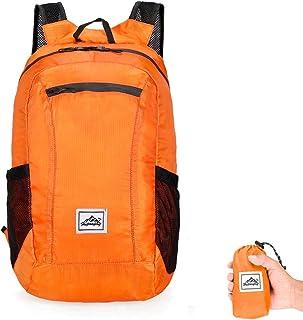 Jinara Lightweight Hiking Backpack Waterproof Foldable Daypack Bag for Women Men (Orange)