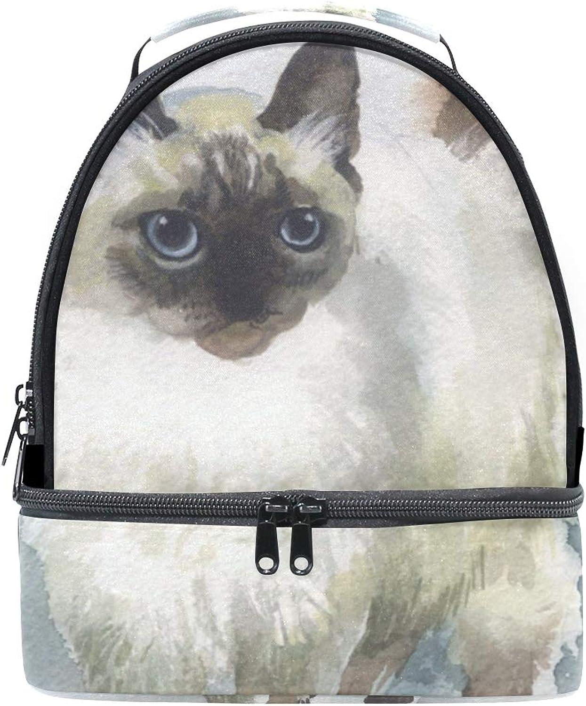 Schulter Double Lunch Bag Malerei Katze Kühler Kühler Kühler verstellbarer Gurt für Picknick B07GJM5PVM  Zuverlässige Leistung 21d299