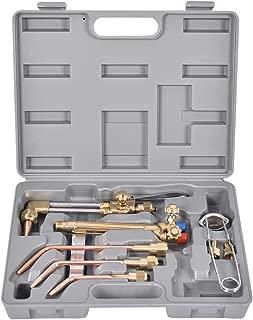 Goplus 10PCS Oxygen & Acetylene Torch Kit, Welding & Cutting Gas Welder Tool Set w/Case