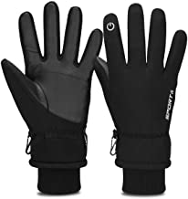 Cevapro Warm Winterhandschuhe Fahrradhandschuhe Wasserdicht Touchscreen Handschuhe Winddicht Atmungsaktiv Running-Handschuhe Männer Frauen für Outdoor Sports