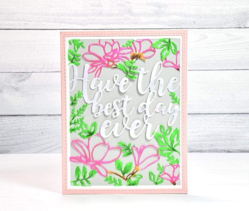 WeihuaL Flower and Word Background Scrapb Dies for Daily bargain Ranking TOP18 sale Cutting Metal