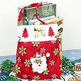 巨大な休日ラッピングエクストラジャンボ用リボン、贈り物、タグ付きクリニーククリスマスギフトバッグ丈夫な生地の再利用可能なメイド,C