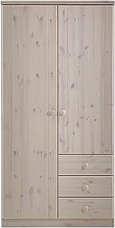 Steens Armoire 2Portes 3tiroirs, Blanc