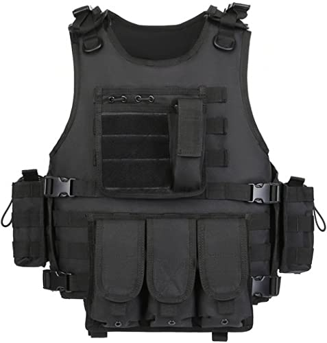 GZ XINXING Black Tactical Airsoft Paintball Vest