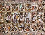 GZFENG Techo de la Capilla Sixtina de Michelangelo 1000 Piezas Puzzles de Madera Juego Educativo clásico Juguetes Arte de la Pared Puzzles