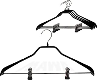 Mawa by Reston Lloyd BodyForm Series Non-Slip Space Saving Clothes Hanger with 2 Clips for Pants or Skirts, Style 42/LK, S...
