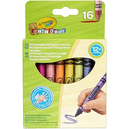 Crayola Mini Kids, Maxi Pastelli a Cera, Forma Triangolare, 16 Pezzi, Età 12 Mesi, Colori Assortiti, 52-016T