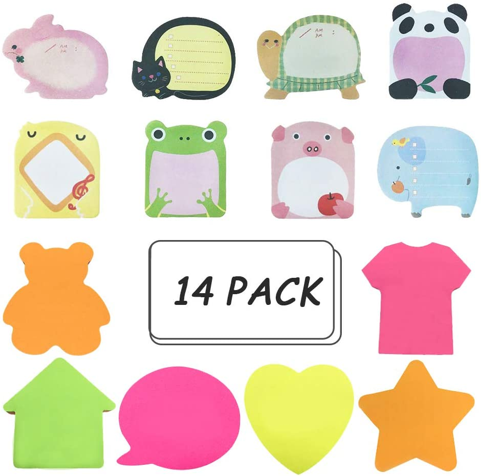 Large discharge sale We OFFer at cheap prices Sticky Notes Self-Stick Removable - 14 Pads Shaped